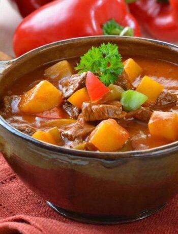 Наваристый суп из баранины с нутом
