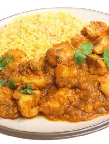 Рис с курицей и приправами