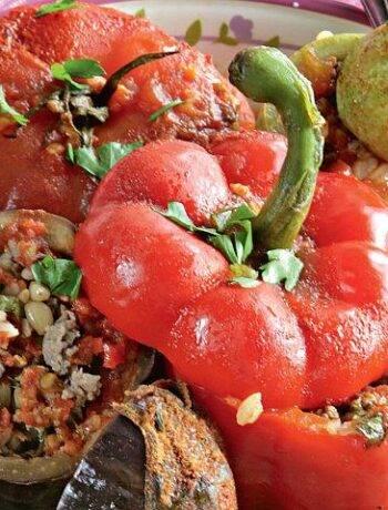 Запечённые овощи в духовке