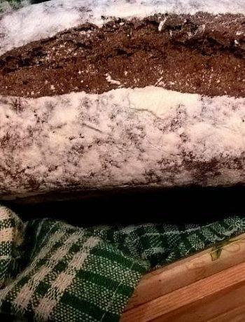 Обычный хлеб без дрожжей