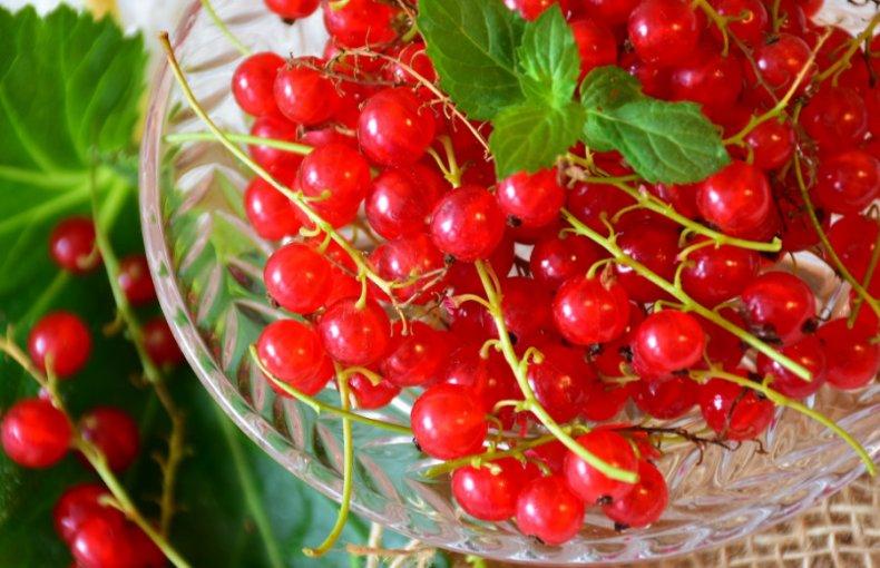 Манный десерт из красных ягод в компоте