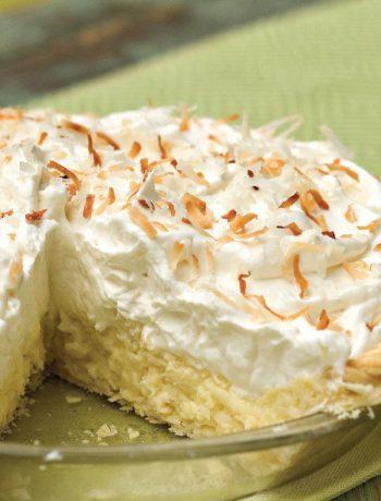 Торт творожный с кокосовой стружкой