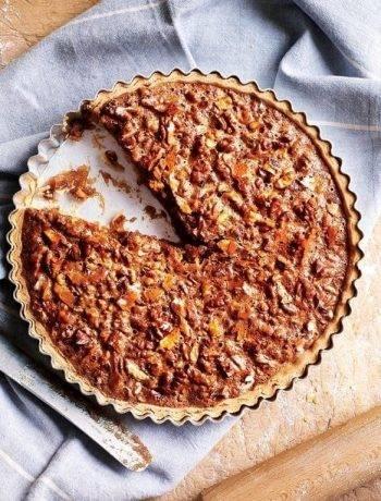 Быстрый пирог с грецкими орехами