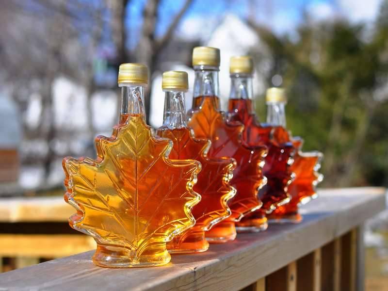 Оладьи канадские с кленовым сиропом