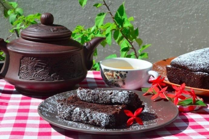 Лёгкий шоколадный кекс
