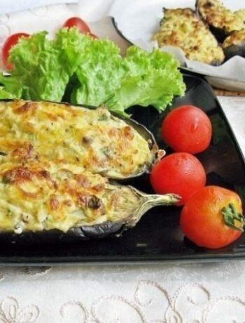 Баклажаны кучерикас с сырно-творожной начинкой