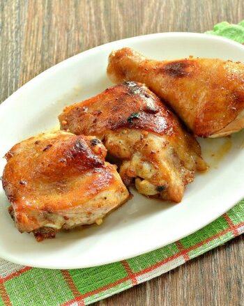 Курица в медово-чесночном маринаде