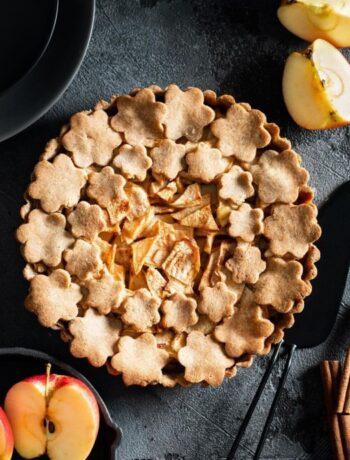 Яблочным тарт подсластителей и  без сахара