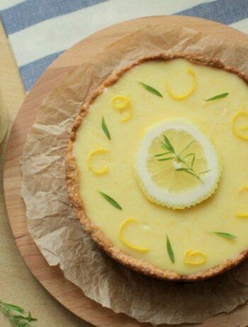 Лимонный тарт с молотым миндалем