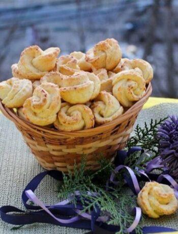 Мягкое творожное печенье розочки