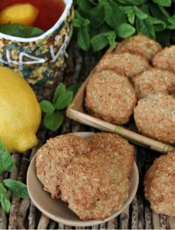 Овсяно-ржаное печенье с лимоном