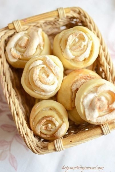 Вкусные розочки печенье