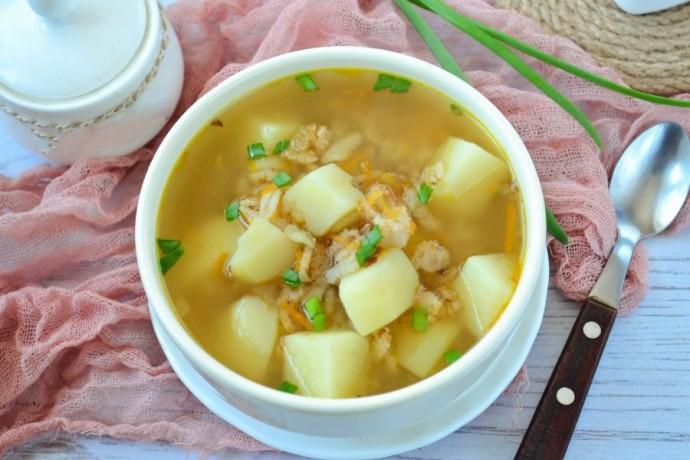Постный суп с геркулесом