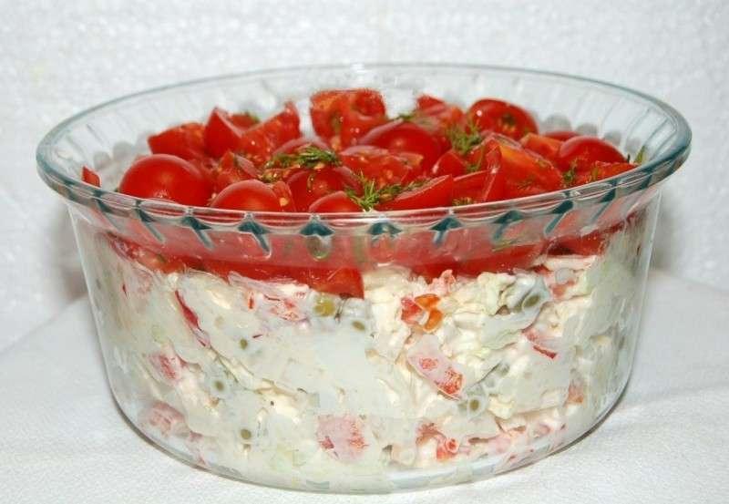 "Вкусный салат ""красная шапочка"""
