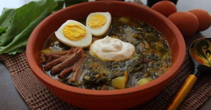 Суп щавелевый с говядиной